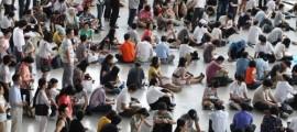 chuseok_queue for train tickets