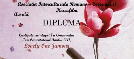 Diploma Lovely One Jumong